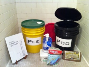 Twin Toilet Kit nests in one bucket