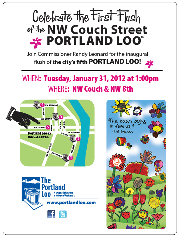 Celebrate First Flush of Portland Loo #5 at 1 pm Jan 31st
