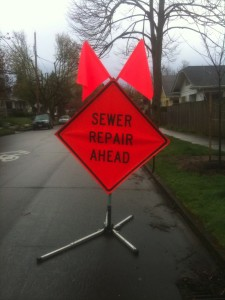 Sewer Repair Ahead