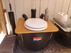WMG's barrel composting toilet.